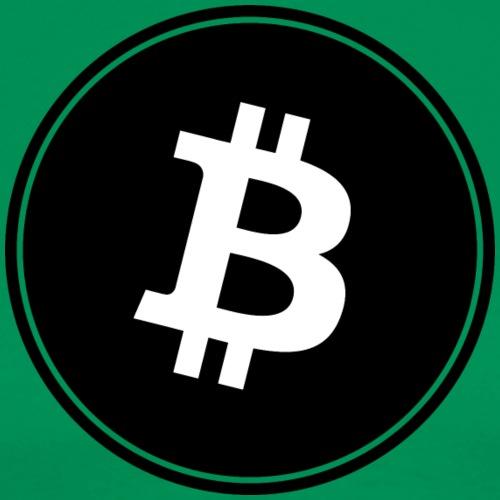 Bitcoin in Black color. - Men's Premium T-Shirt