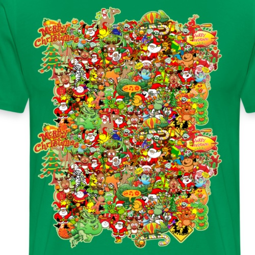 In Christmas Melt into the Crowd and Enjoy - Men's Premium T-Shirt