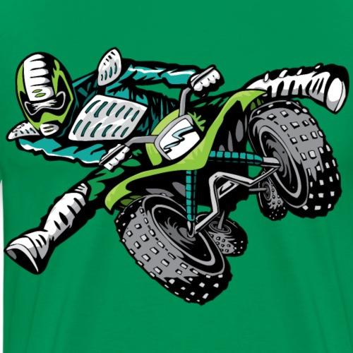 ATV Freestyle Quad Green - Men's Premium T-Shirt