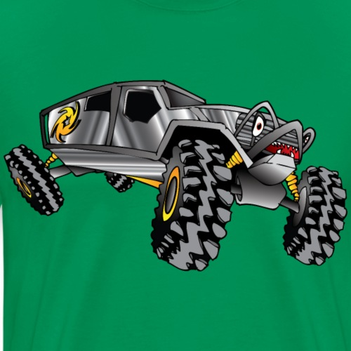 Rock Crawling Monster Truck Silver - Men's Premium T-Shirt