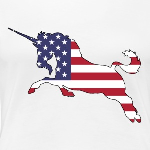 American Flag - Unicorn - Women's Premium T-Shirt