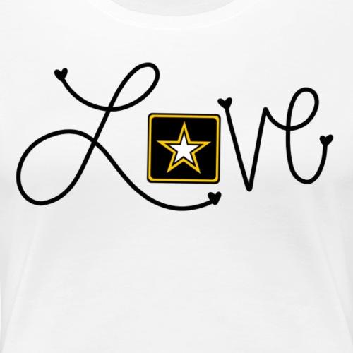 Love Army Star - Women's Premium T-Shirt
