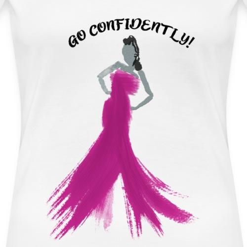 ConfidentFuschia - Women's Premium T-Shirt