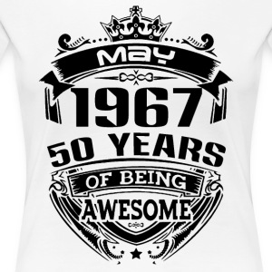 may 1967 50 years - Women's Premium T-Shirt