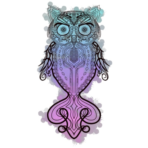 Watercolor Owl - Women's Premium T-Shirt