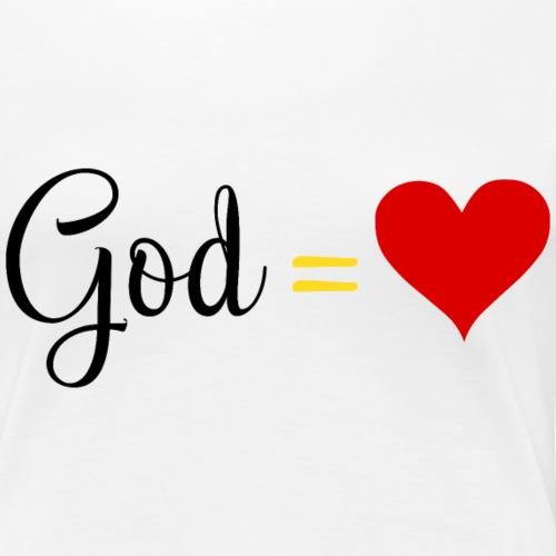 GodisLove - Women's Premium T-Shirt