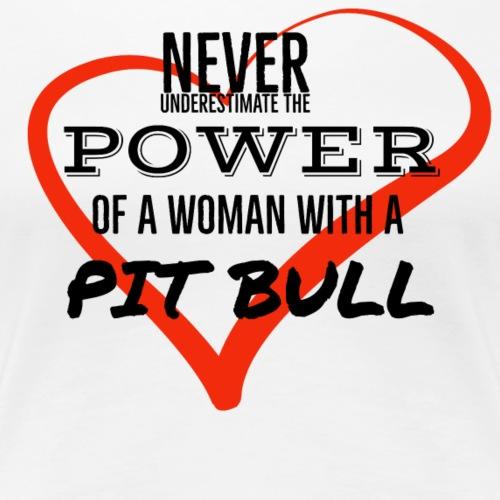 Never Underestimate a WOMAN - Women's Premium T-Shirt