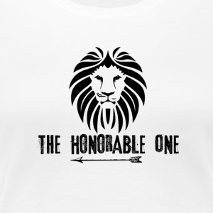 Lion: The Honorable One (Black) - Women's Premium T-Shirt