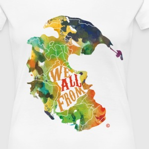 We All From Africa Red print - Women's Premium T-Shirt