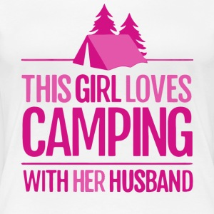 This Girl Loves Camping With Her Husband T Shirt - Women's Premium T-Shirt
