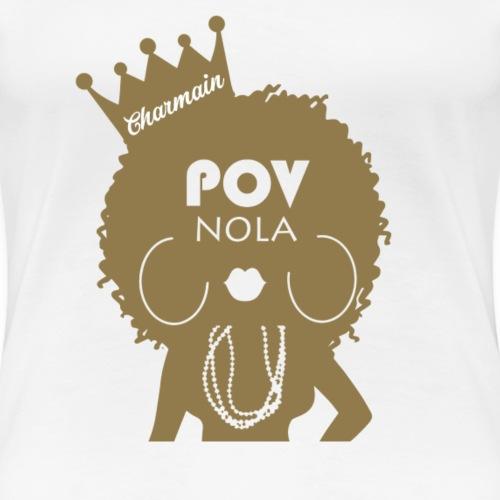 Charmain Personalized New Gold - Women's Premium T-Shirt