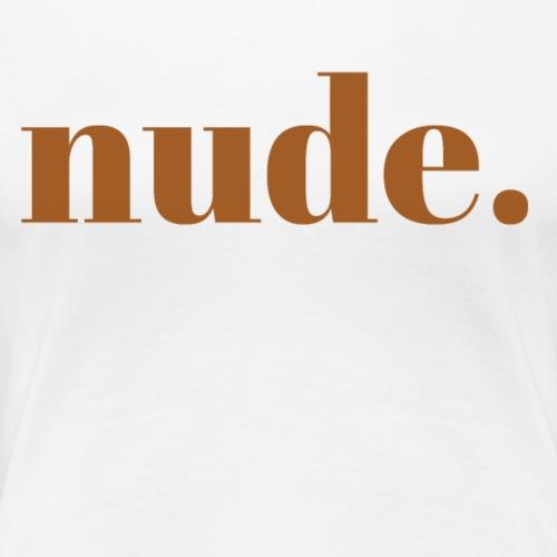 nude iii - Women's Premium T-Shirt