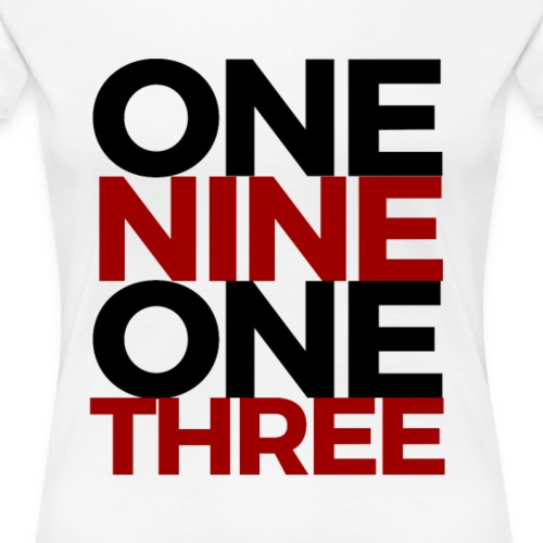 1913 - Red/Black - Women's Premium T-Shirt