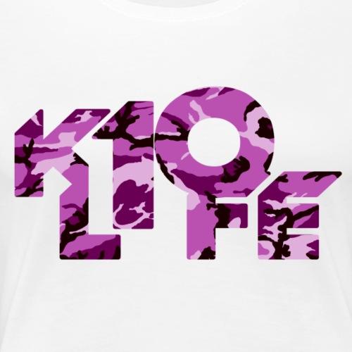 K10Life Pink Camo - Women's Premium T-Shirt