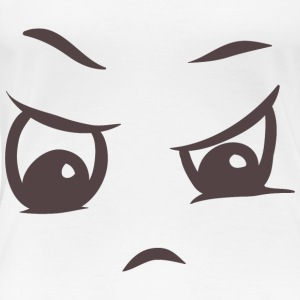 Angry face on your t-shirt - Women's Premium T-Shirt