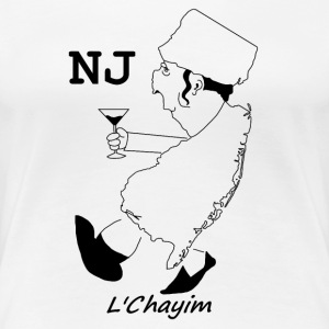 A funny map of New Jersey 3 - Women's Premium T-Shirt