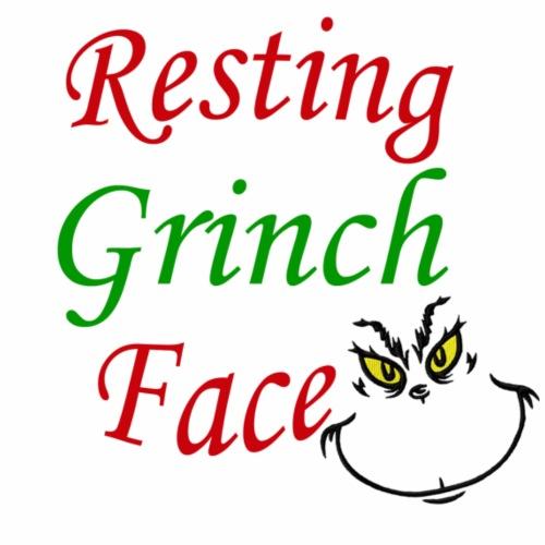 Resting Grinch Face - Women's Premium T-Shirt