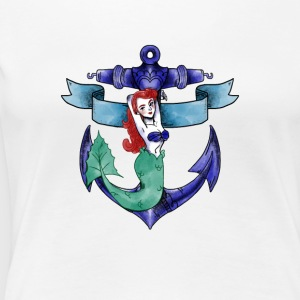mermaid fee water sea ocean anchor armature - Women's Premium T-Shirt