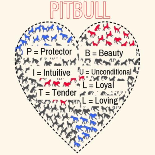 pitbull table heart - Women's Premium T-Shirt