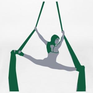 Aerial Dancer - Splits on Silks - Women's Premium T-Shirt