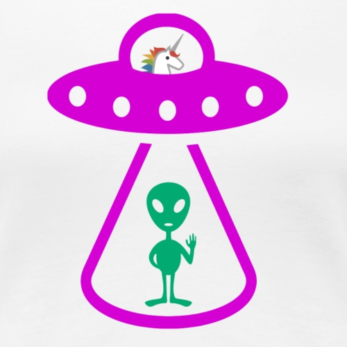 Alien Abducted by Unicorn - Women's Premium T-Shirt
