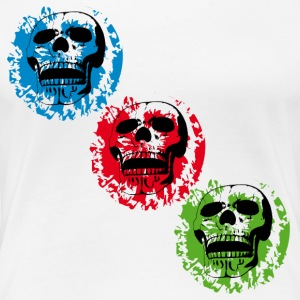 three skulls diagonal - Women's Premium T-Shirt
