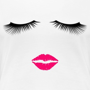 Lipstick and Eyelashes - Women's Premium T-Shirt