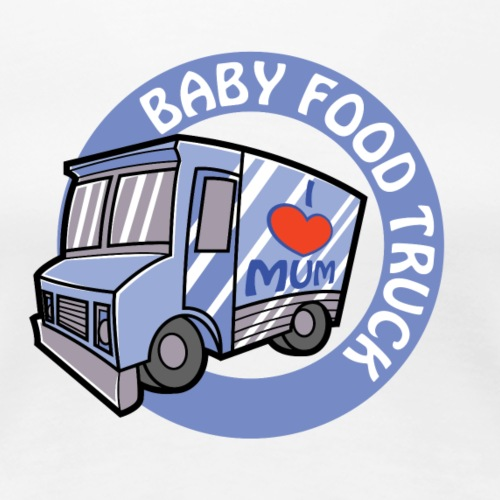 Blue Baby Food Truck - Women's Premium T-Shirt