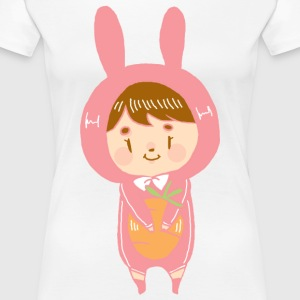 Bunny Girl with carrot - Women's Premium T-Shirt