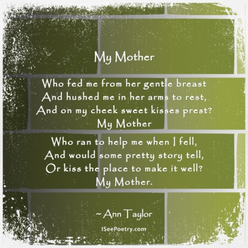 My Mother - Poetry Gifts - Distressed Wall - Women's Premium T-Shirt
