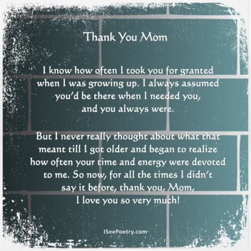 Thank You Mom - Poetry Gifts - Distressed Wall - Women's Premium T-Shirt