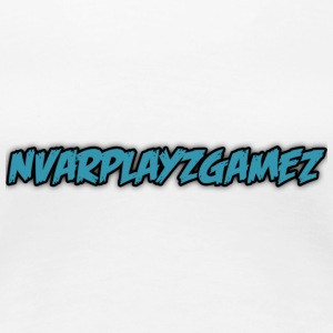 New: NvarPlayzGamez Blue Stylish Logo - Women's Premium T-Shirt