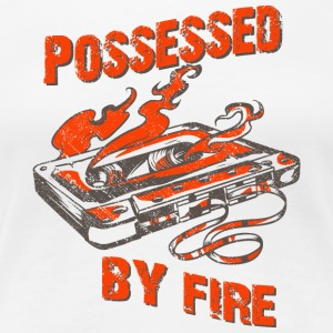 Possessed by fire - old school tape t-shirt design - Women's Premium T-Shirt