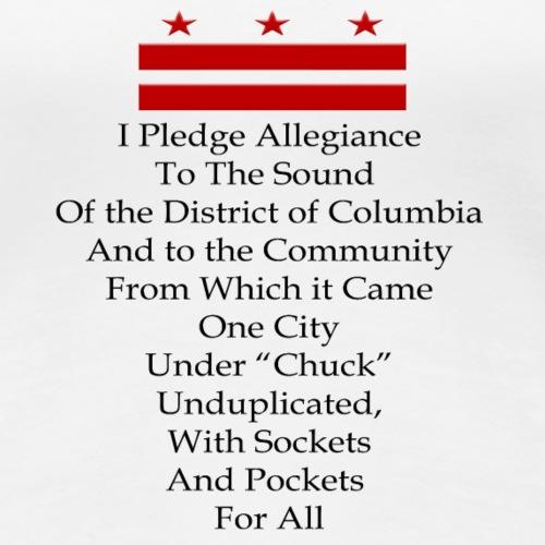 I Pledge Allegiance to Go-Go (red and black) - Women's Premium T-Shirt
