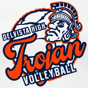 DELVISTA HIGH VOLLEYBALL Trojan - Women's Premium T-Shirt