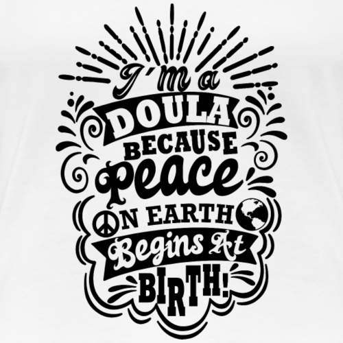Peace on earth - birth - Women's Premium T-Shirt