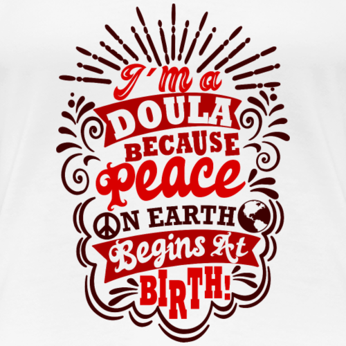 Peace on earth -birth - Women's Premium T-Shirt