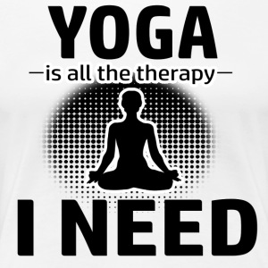 Yoga is my therapy - Women's Premium T-Shirt