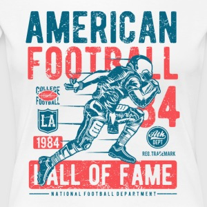 American Football Retro Vintage Distressed Design - Women's Premium T-Shirt