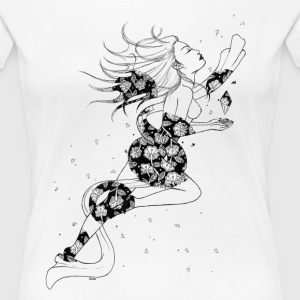 Flower Lady - Women's Premium T-Shirt