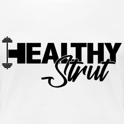 HealthySTRUT Logo w/Black Text - Women's Premium T-Shirt