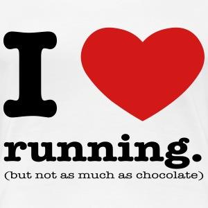I heart running. - Women's Premium T-Shirt