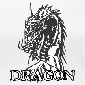 agry_looking_dragon_white - Women's Premium T-Shirt