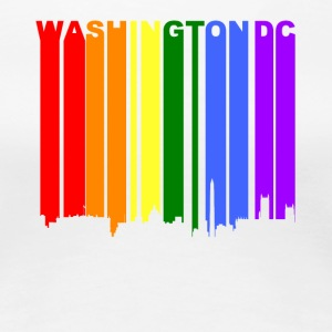 Washington DC Rainbow Skyline LGBT Gay Pride - Women's Premium T-Shirt