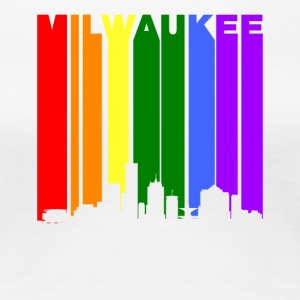 Milwaukee Wisconsin Rainbow LGBT Gay Pride - Women's Premium T-Shirt