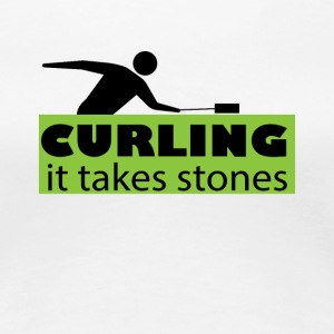 Curling It Takes stones Funny Curler Tee Shirt - Women's Premium T-Shirt