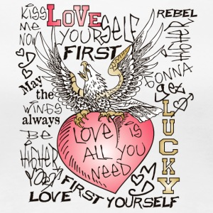 love yourself first - Women's Premium T-Shirt