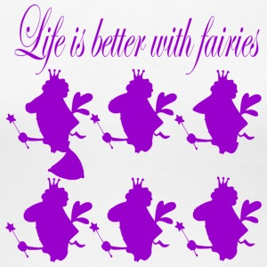 life is better with fairies - Women's Premium T-Shirt