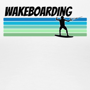 Retro Wakeboarding - Women's Premium T-Shirt