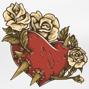 heart_with_roses_and_thorm - Women's Premium T-Shirt